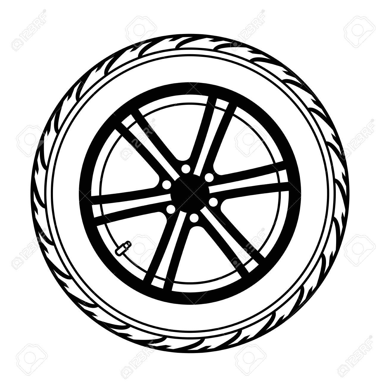 Vector Black Car Wheel On White Background Stock Photo Picture And Royalty Free Image Image 29539782