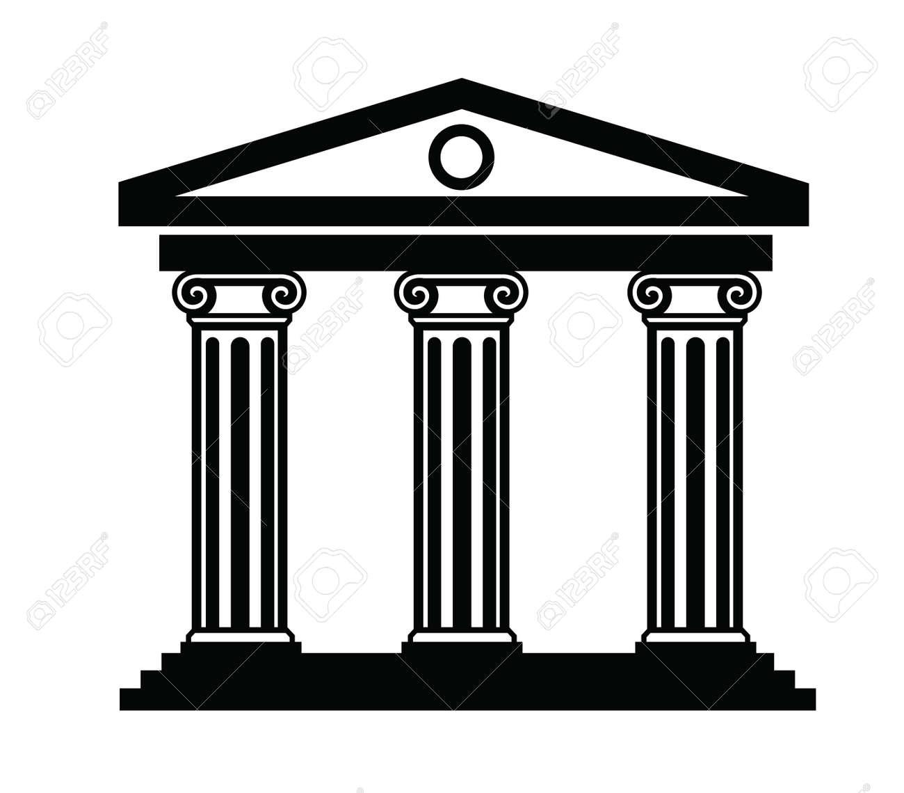 vector black illustration of column icon on white royalty free rh 123rf com