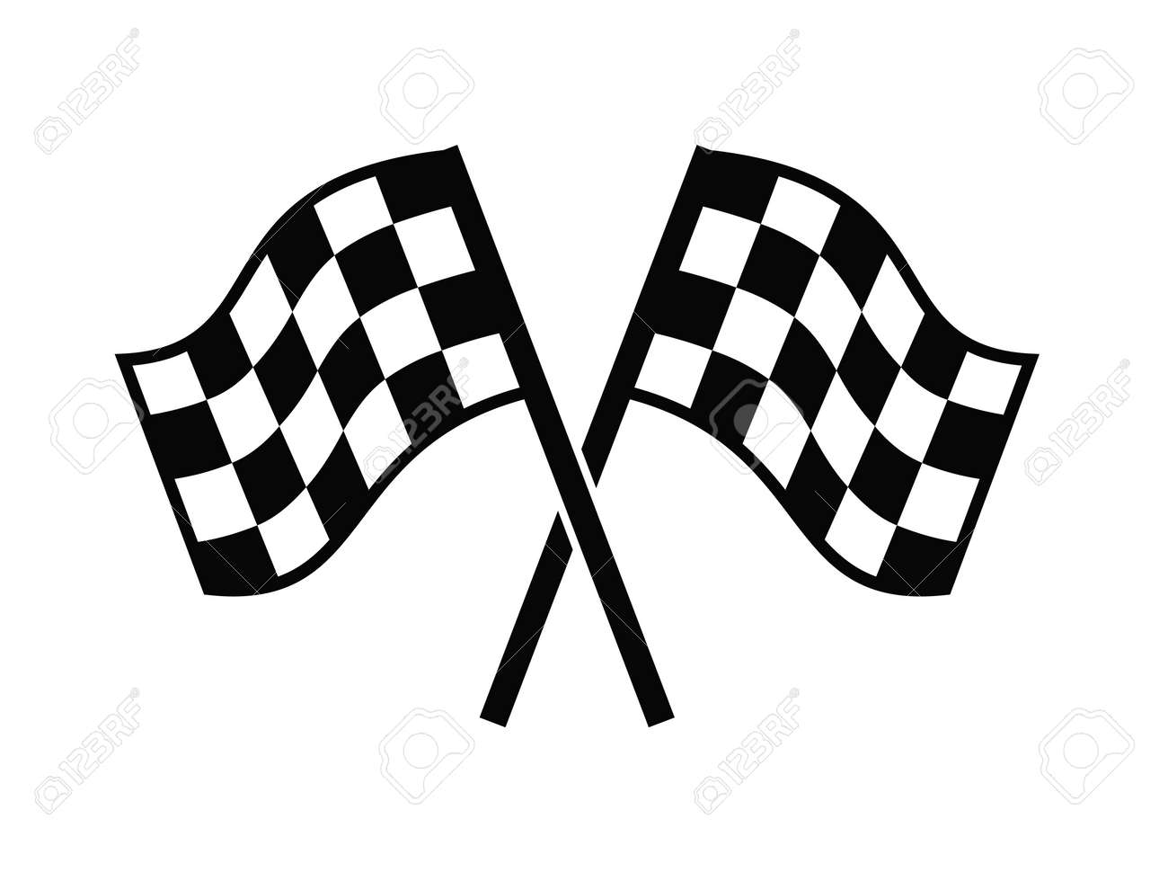 checkered flags icon royalty free cliparts vectors and stock rh 123rf com racing flags vector art free racing flag logo free vector