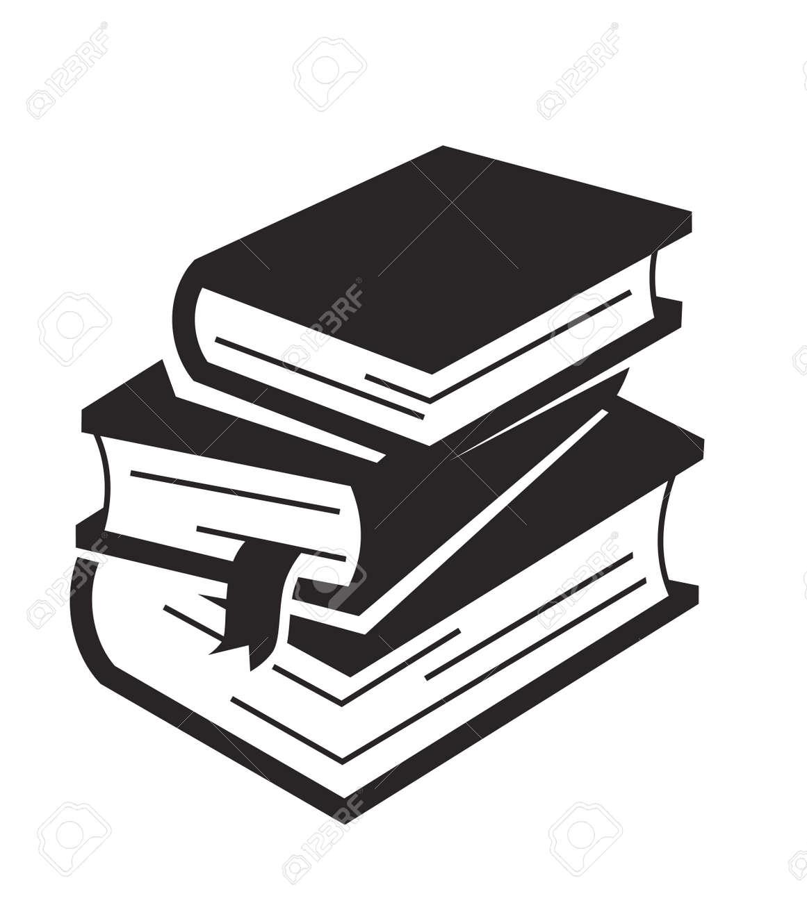 Vecteur Icone Du Livre Noir Sur Fond Blanc