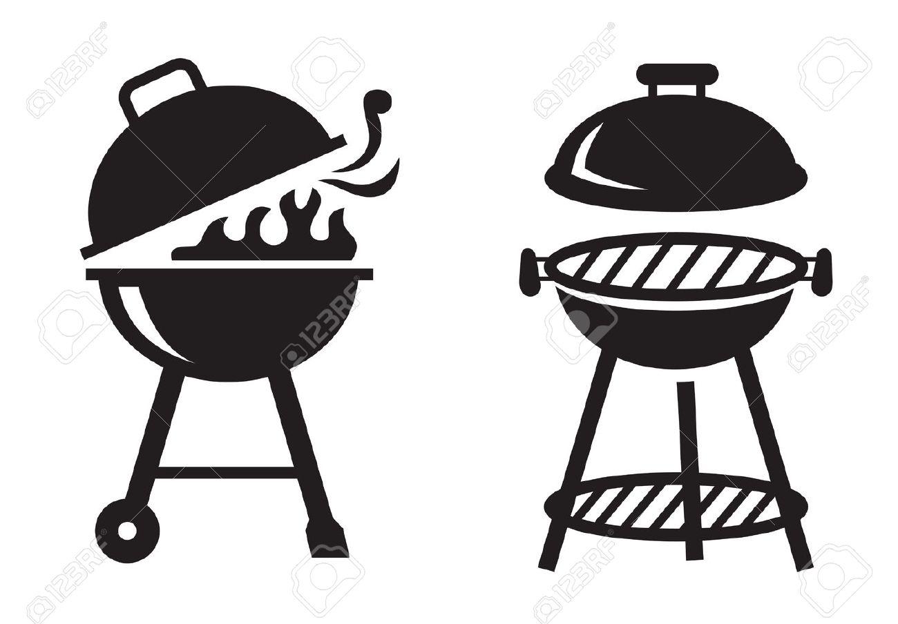 vecteur barbecue noir grill ic nes sur fond blanc clip art libres de rh fr 123rf com