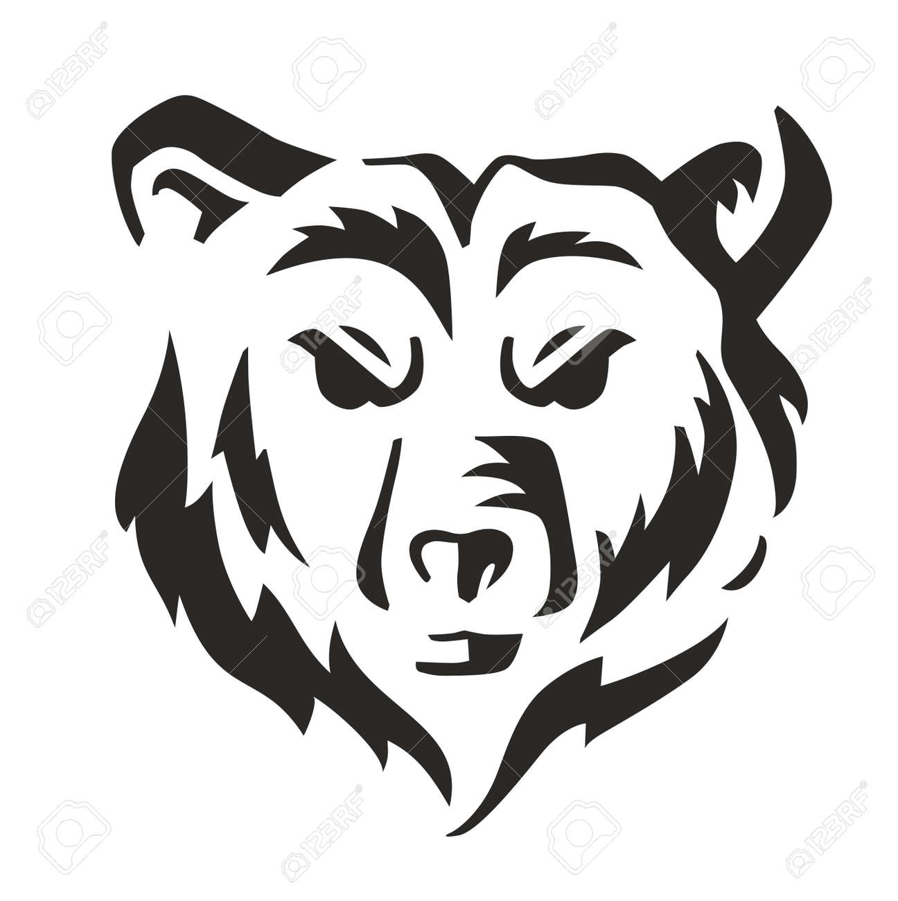 vector black bear icon on white background royalty free cliparts vectors and stock illustration image 55172319 vector black bear icon on white background