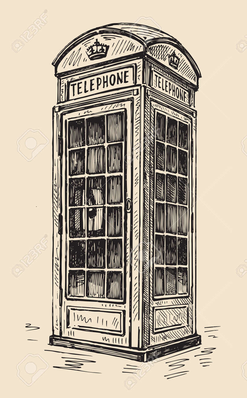 Drawing Telephone Box Wiring Diagrams Of Printed Circuit Boards Easy To Editabstract Board Phone In London Stock Photo Picture And Royalty Free Image Rh 123rf Com Cartoon