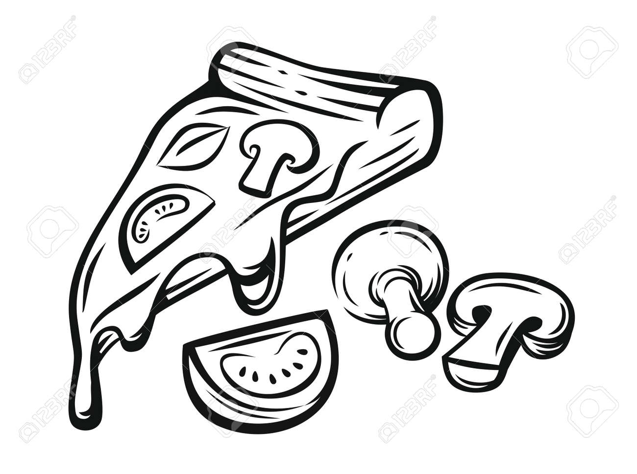 Pizza Png Clipart Library Library - Cheese Pizza Slice Png, Transparent Png  - vhv