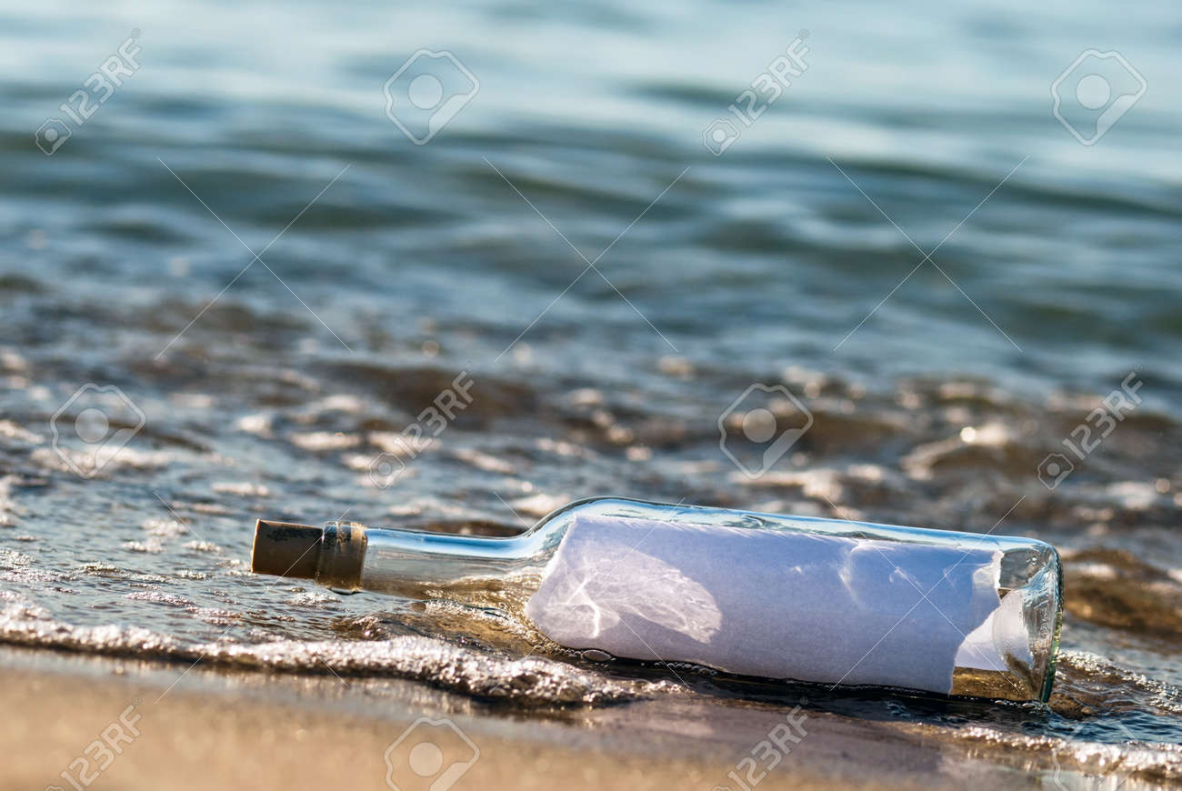 a message in a bottle with news in the surge Stock Photo - 9979442