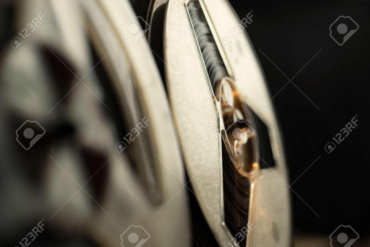 Vintage tape recorder, close up shot - 158412497