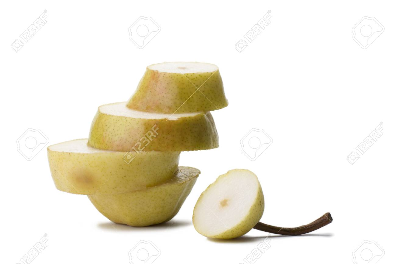 Part pears and folded in the form of steps. Stock Photo - 9312198