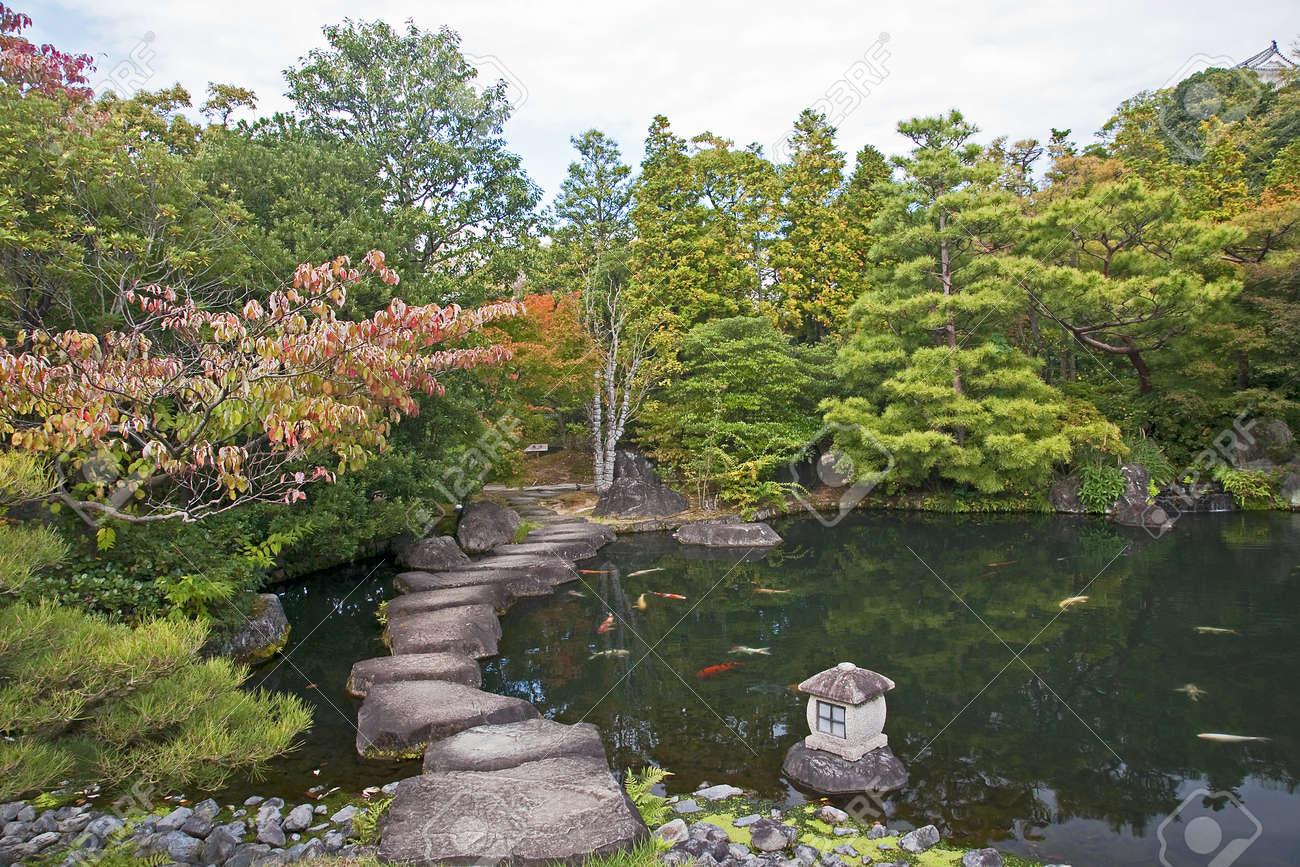Jardin Japonais A Himeji Voir Le Japon A L Automne Banque D Images
