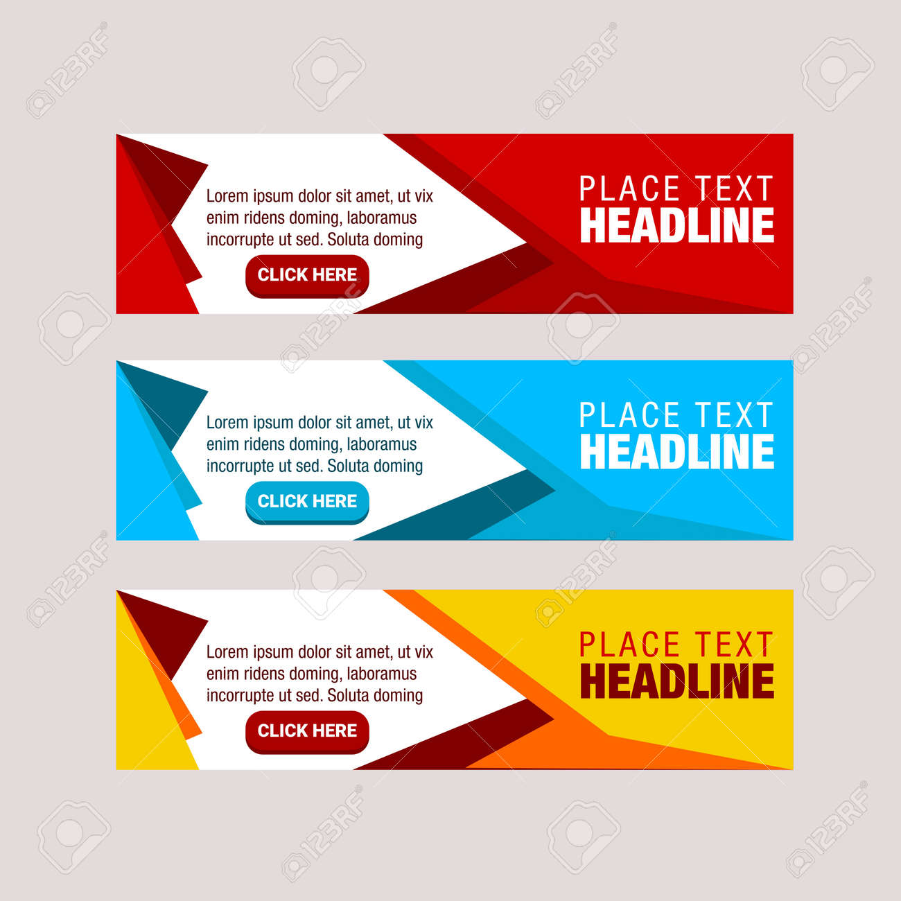 Vector Design Banner Modern Web Template Abstract Background