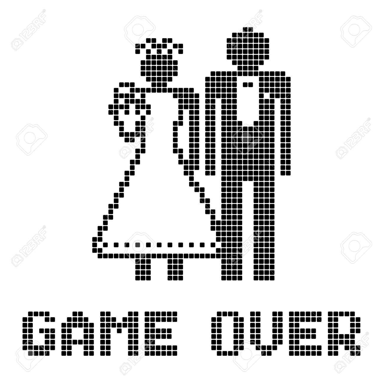 Funny wedding symbol - Game Over - 14358323