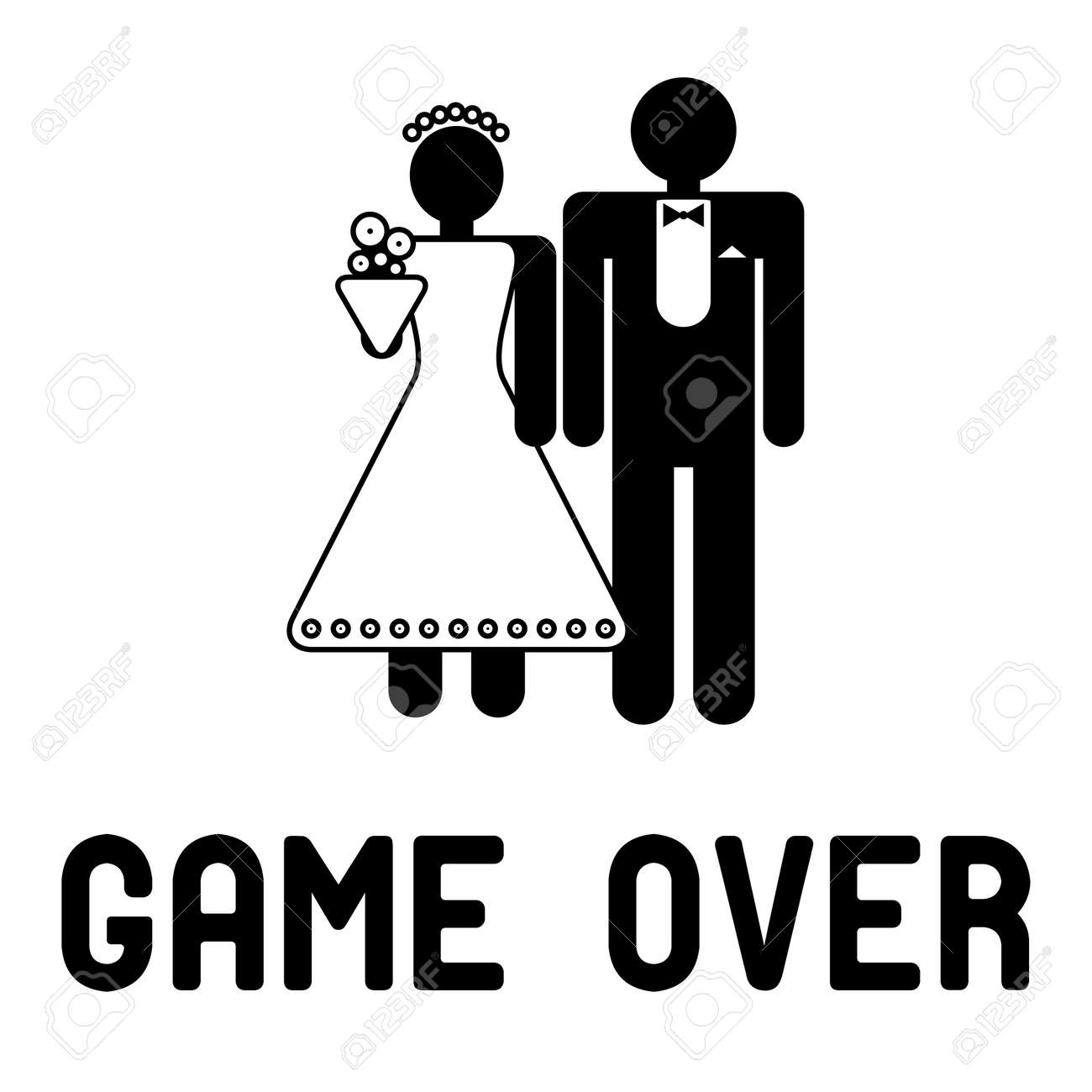 Funny wedding symbol - Game Over - 14358318
