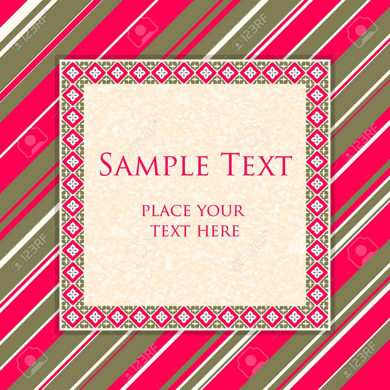 Invitation card template Stock Vector - 14515833