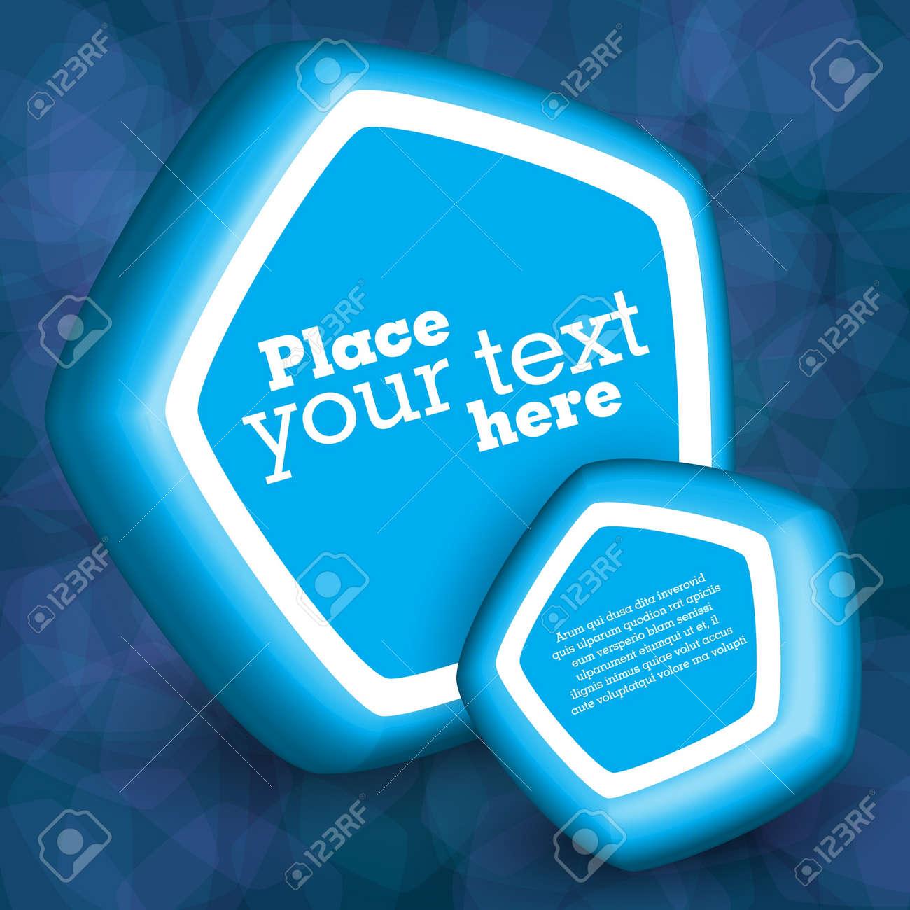 Blue 3d speech bubbles Stock Vector - 14515935
