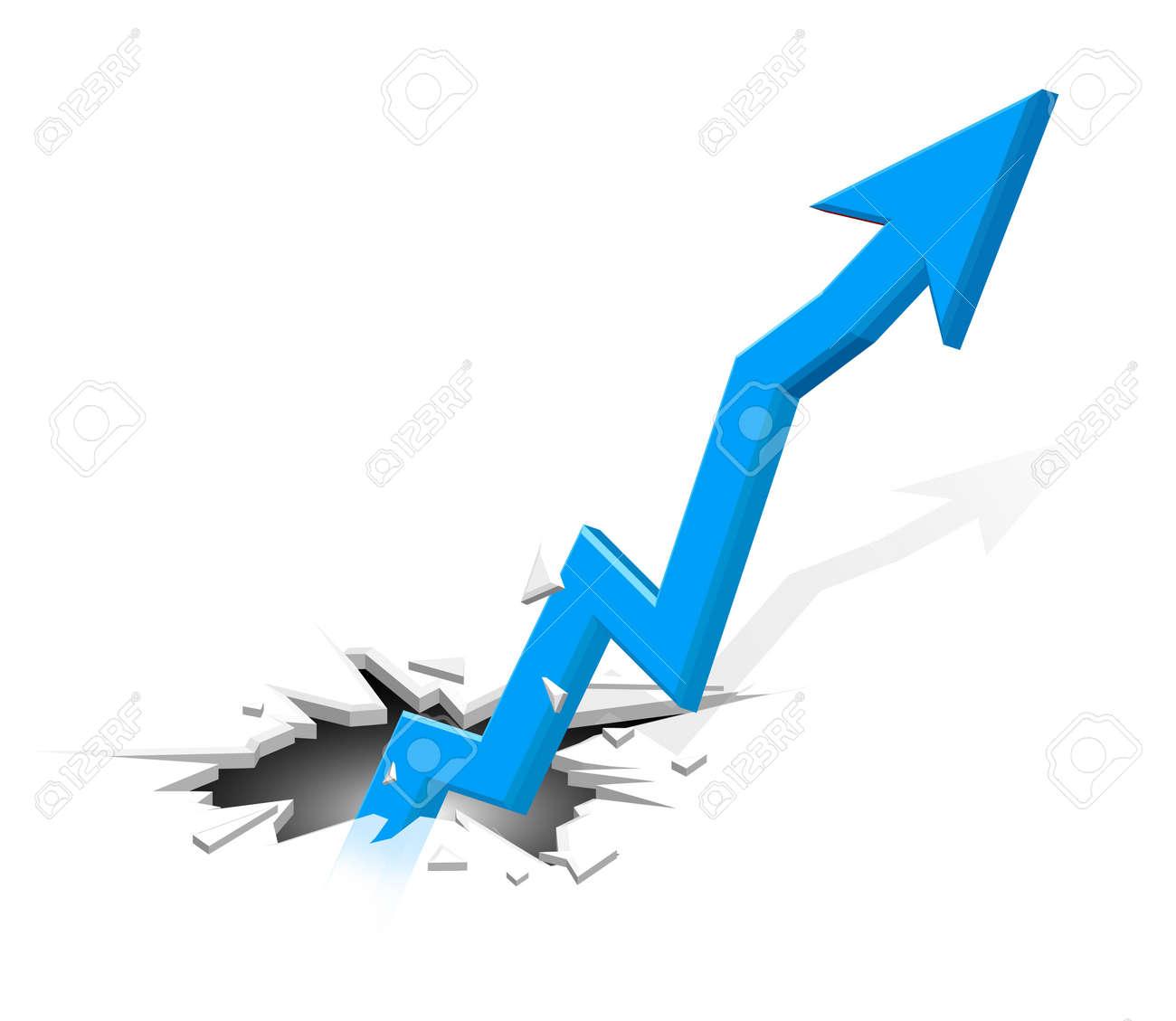 Groundbreaking growing up arrow - 14515910