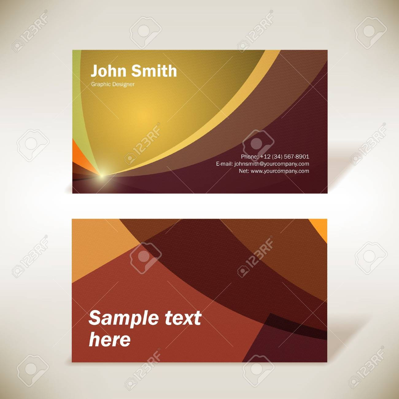 Colorful business-card - 14559613