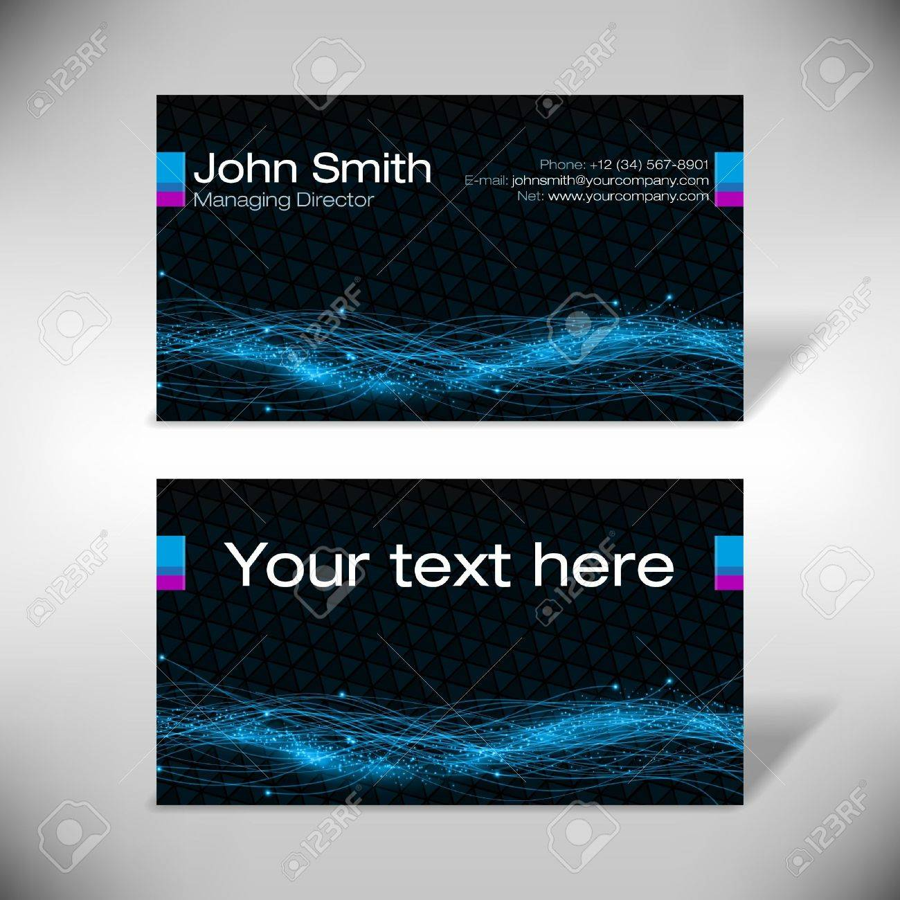 Futuristic Business Card Royalty Free Cliparts Vectors And Stock