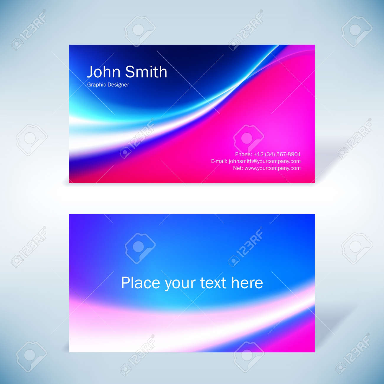 Colorful business-card - 14559611