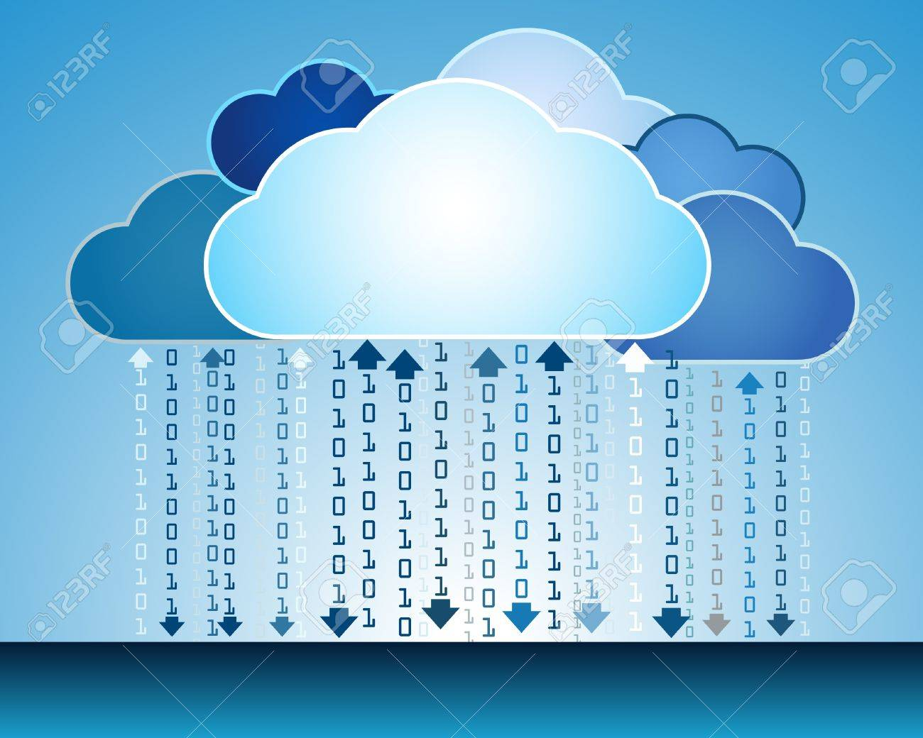 Abstract data cloud illustration Stock Vector - 14559606