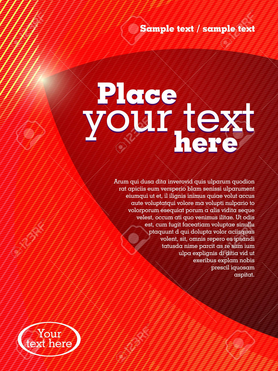 Abstract business brochure template Stock Vector - 14580999
