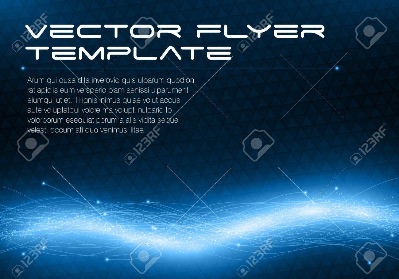 Abstract futuristic flyer template - 14580922