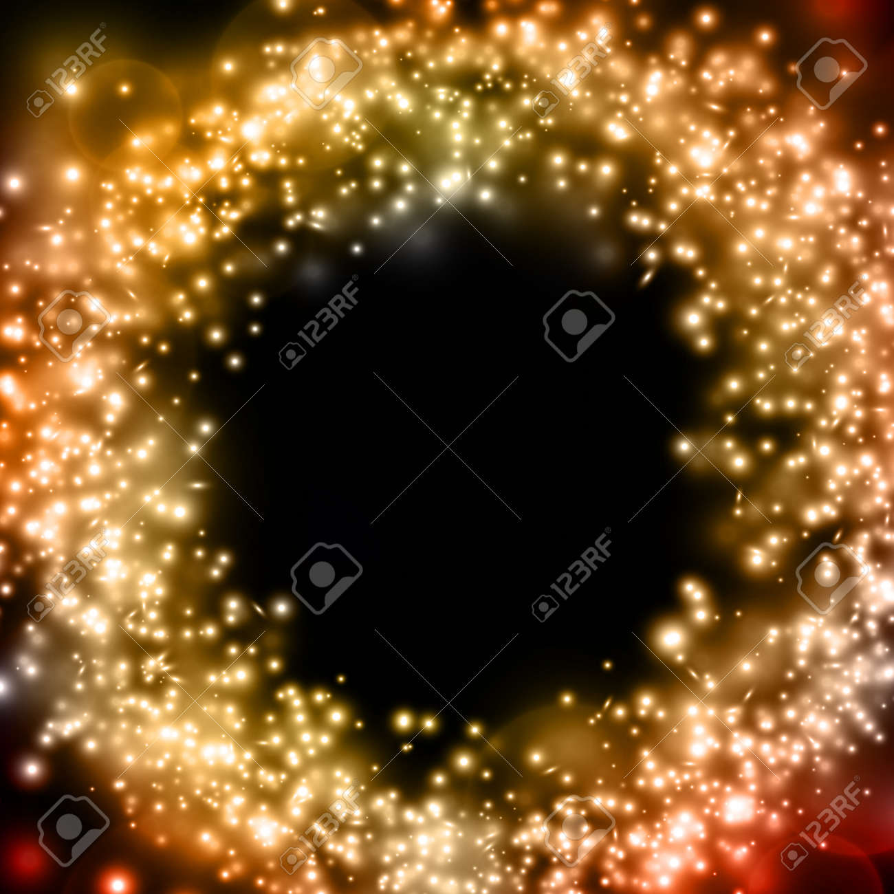 Abstract vector luminous gold background - 14580692