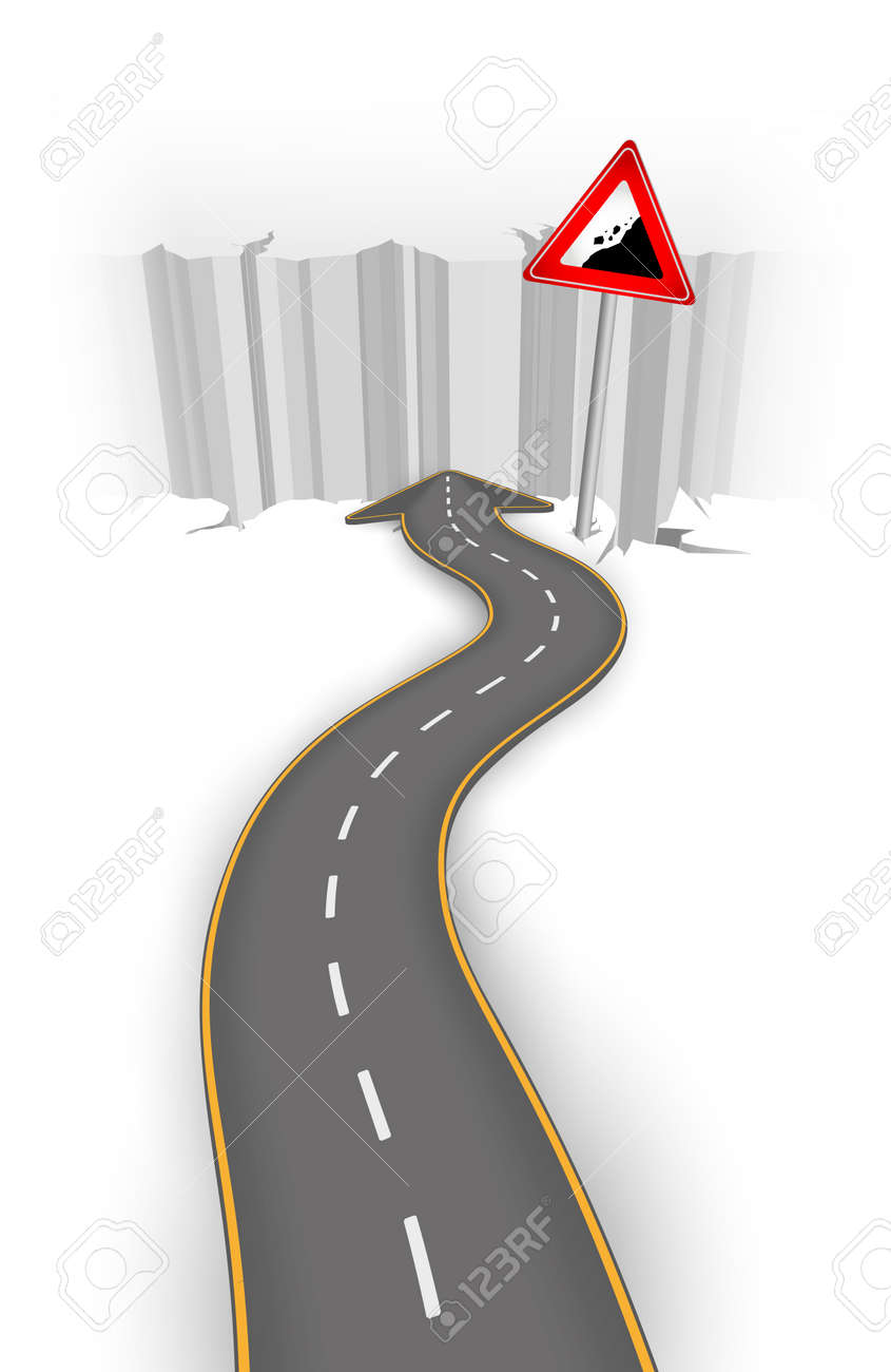 Road to abyss vector illustration - 14580801