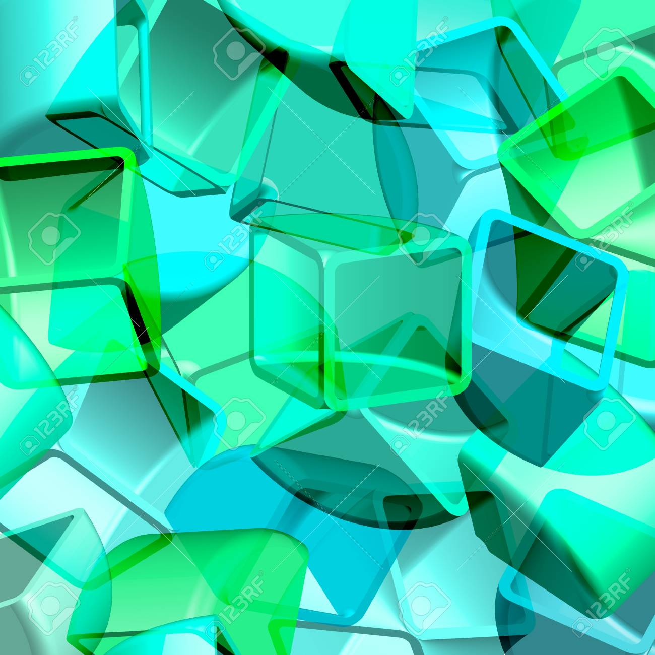 Abstract 3d illustration of cubes - 14580732