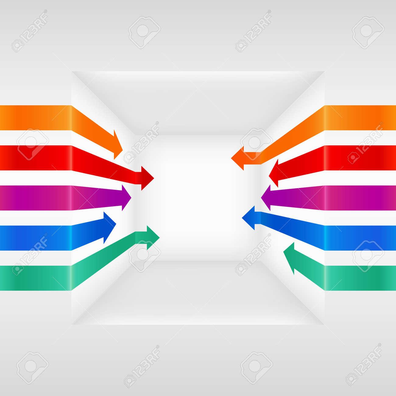Colorful 3d vector arrows - 15219345