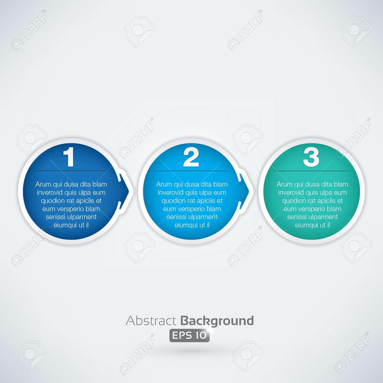 Easy three step arrow bubbles - 15615028
