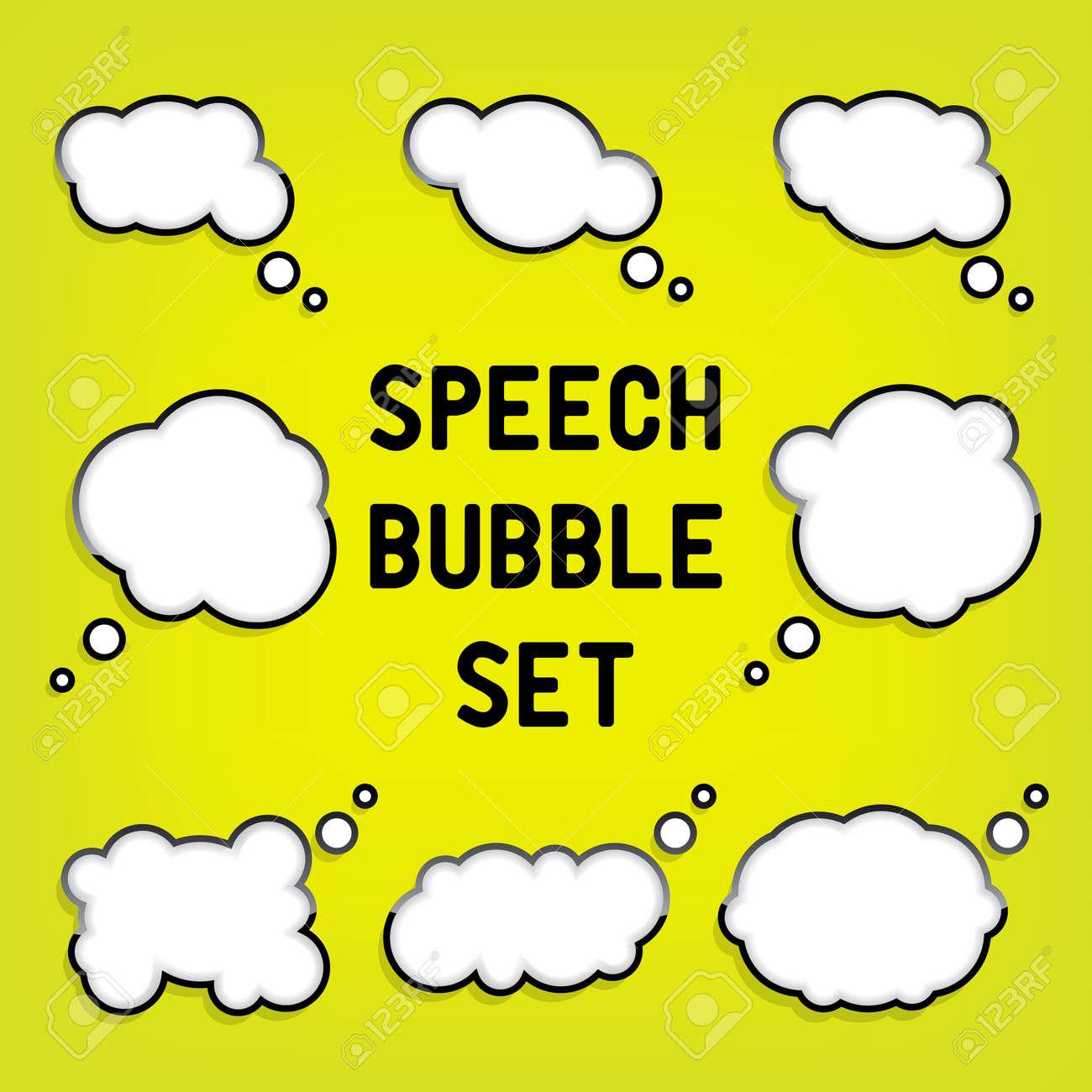 Cartoon Speech Bubbles - 17105973