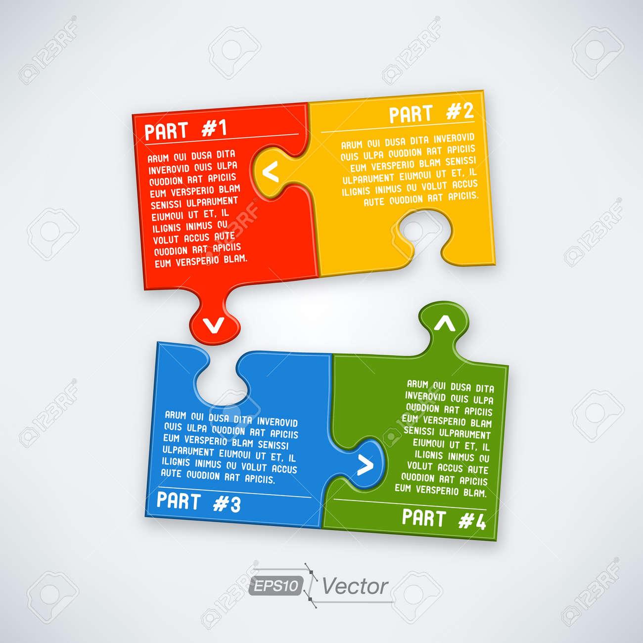 Four parts puzzle Stock Vector - 18357463