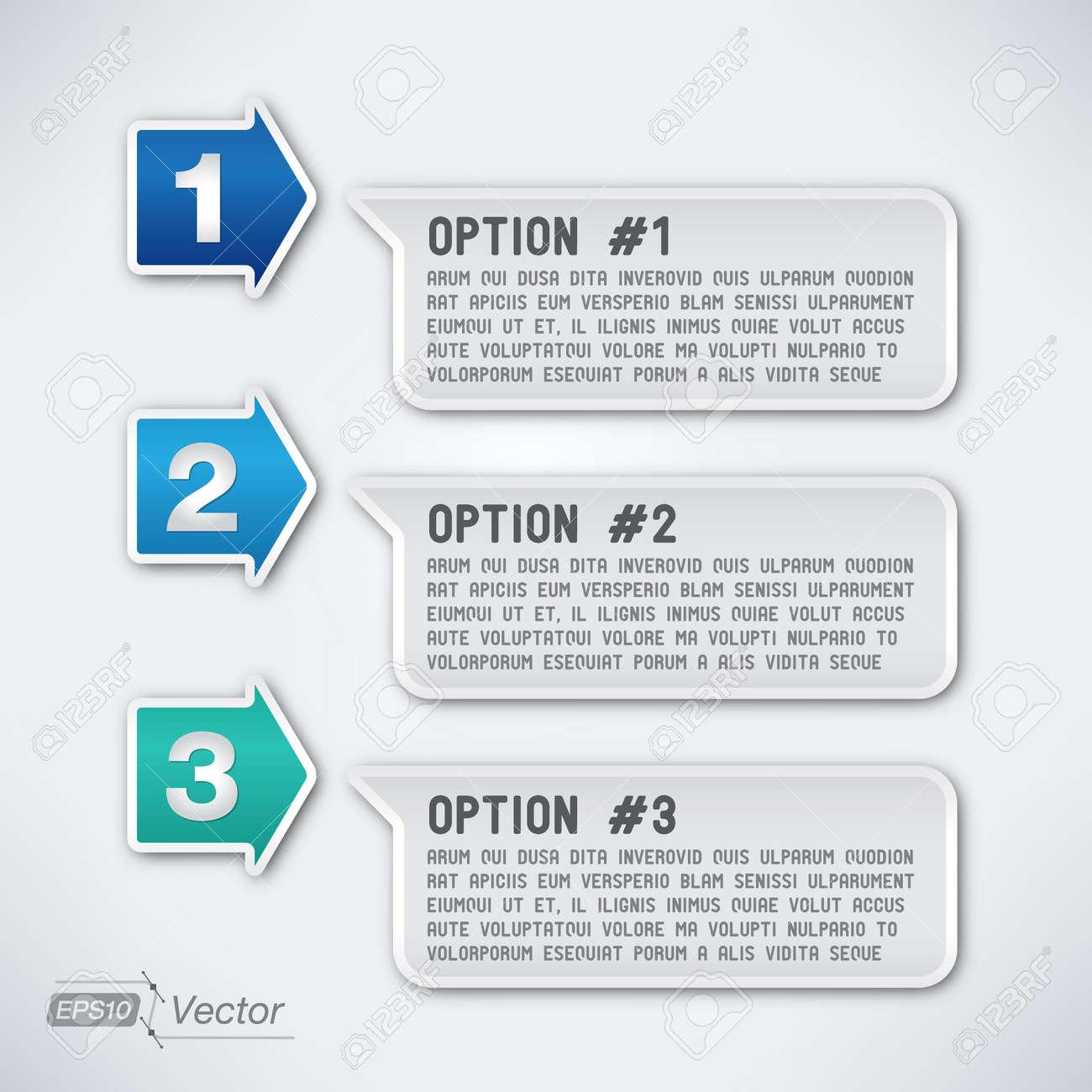 Three options - 18590245