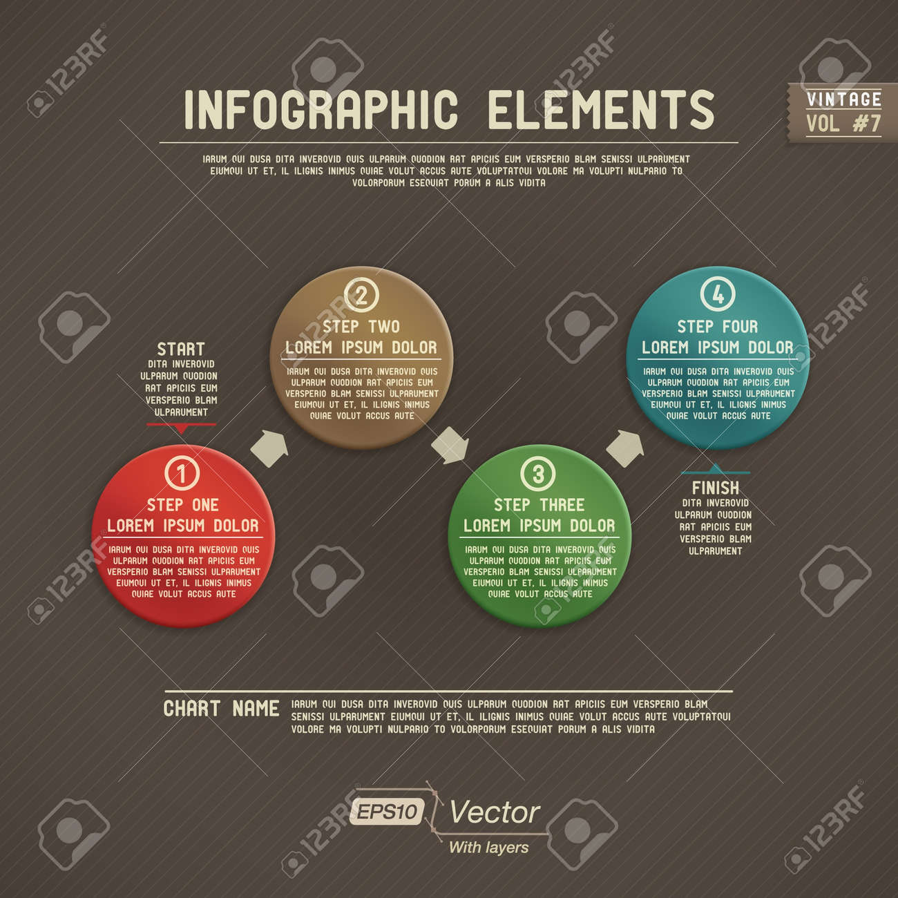 Detailed colorful infographic elements - 19026395