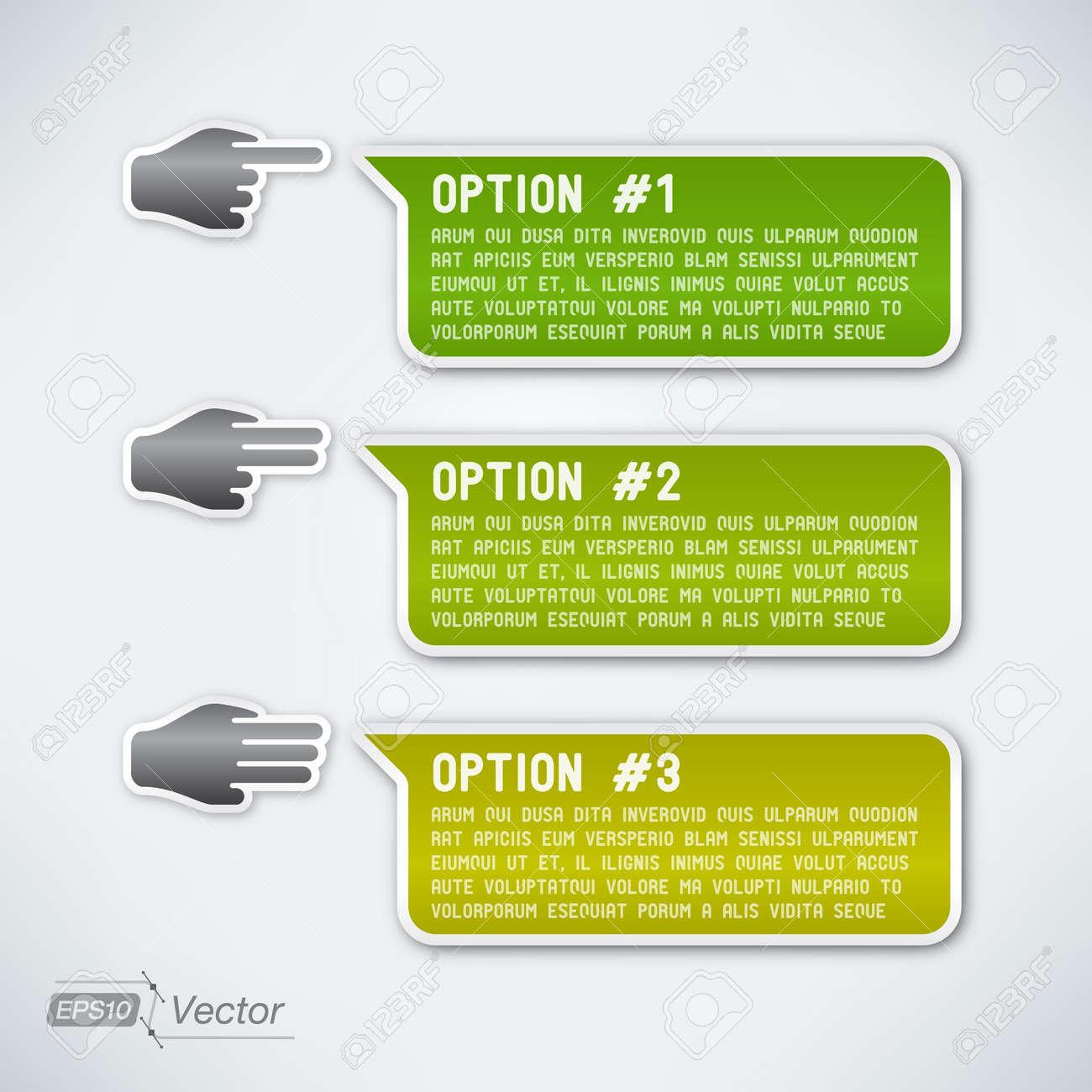 Three options Stock Vector - 19297327