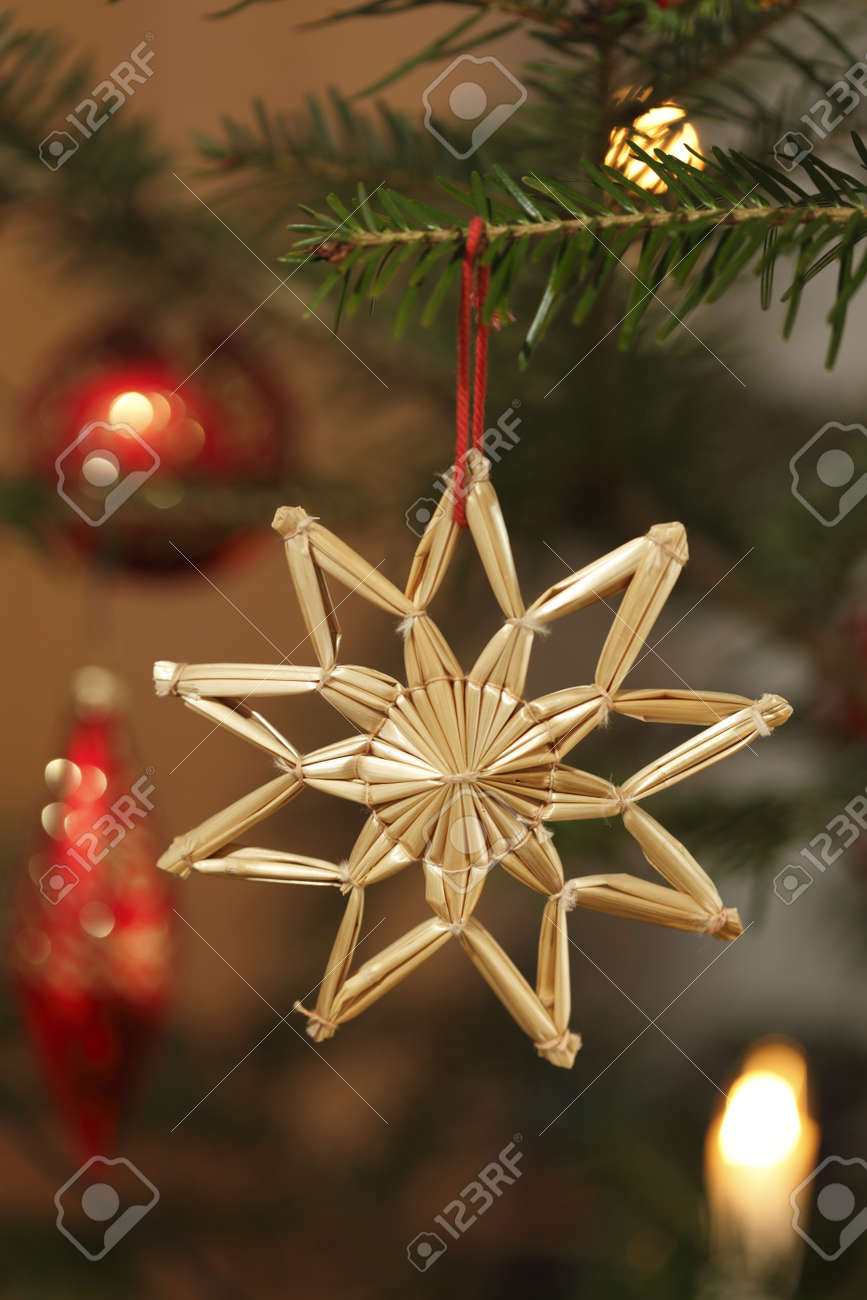 natural christmas tree with different decoration Stock Photo - 10535839
