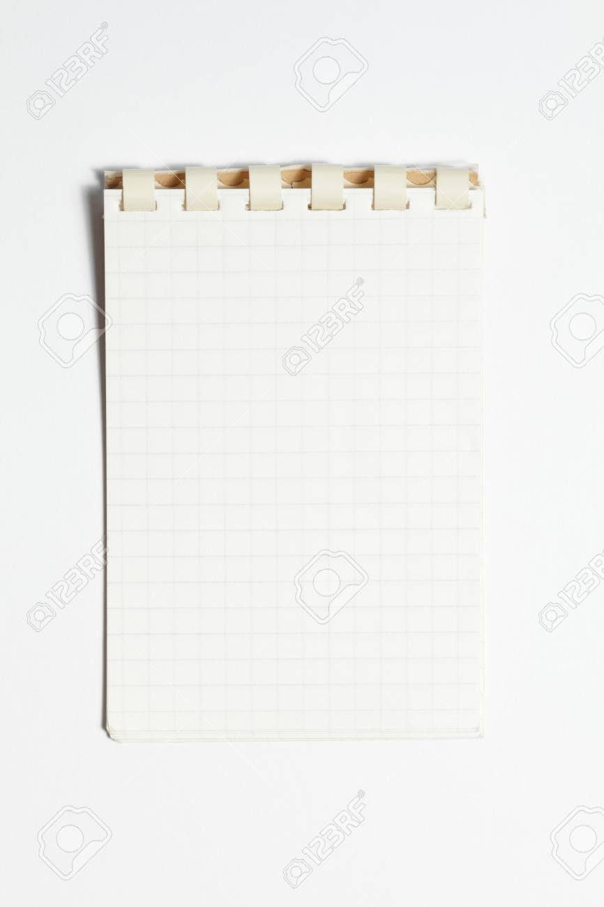 small blank lined notebook with white background Stock Photo - 14447126