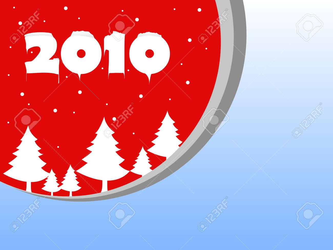 Christmas fur-tree 2010 red Stock Vector - 6001269