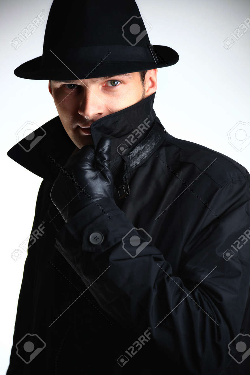 Gangster man in hat Stock Photo - 6049738