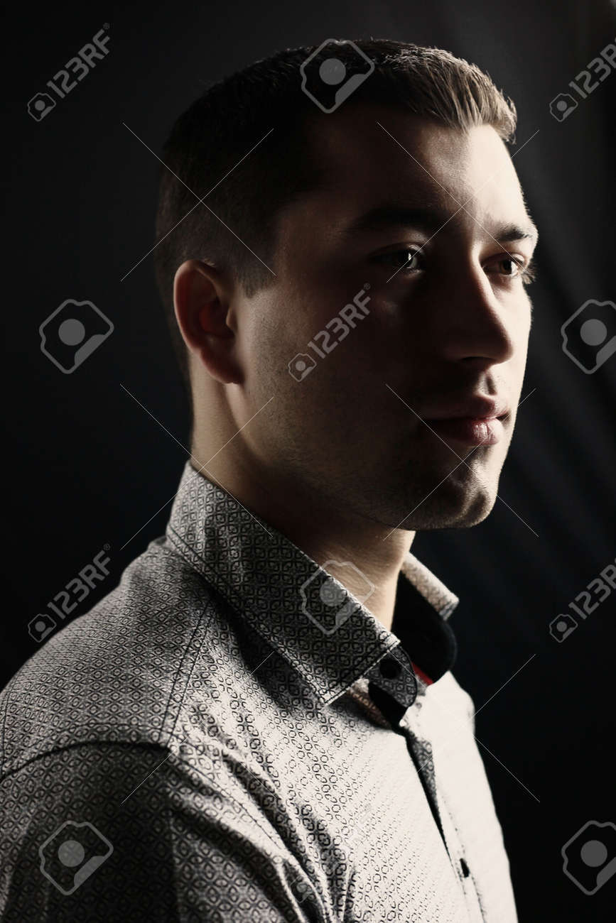 Young man looking Stock Photo - 6049916