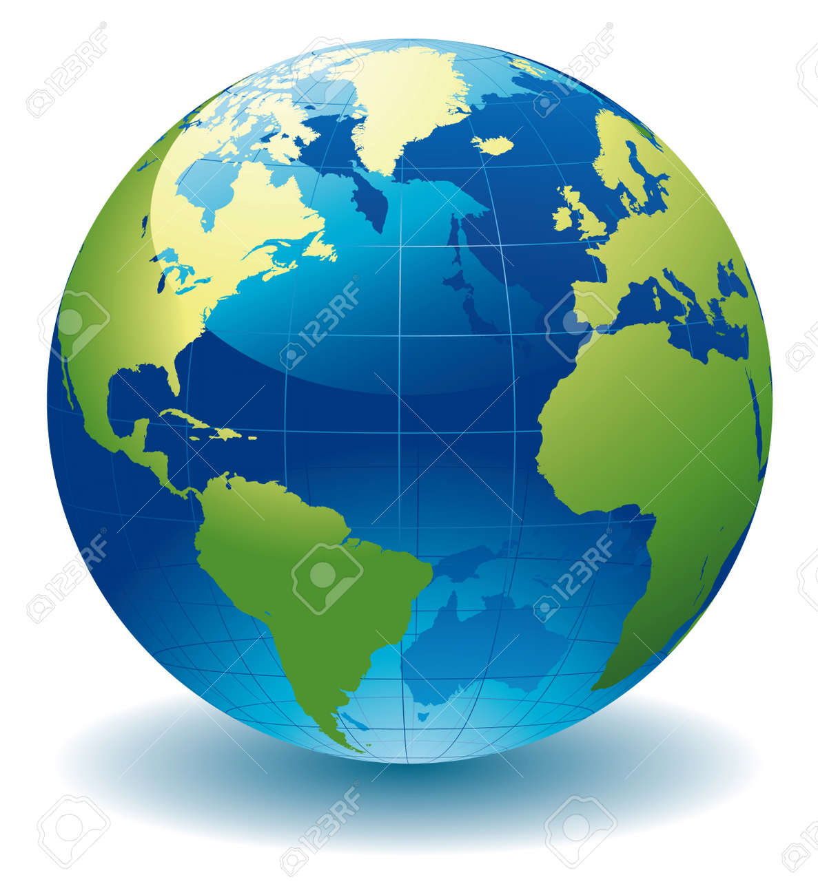 World Globe Map Royalty Free Cliparts, Vectors, And Stock