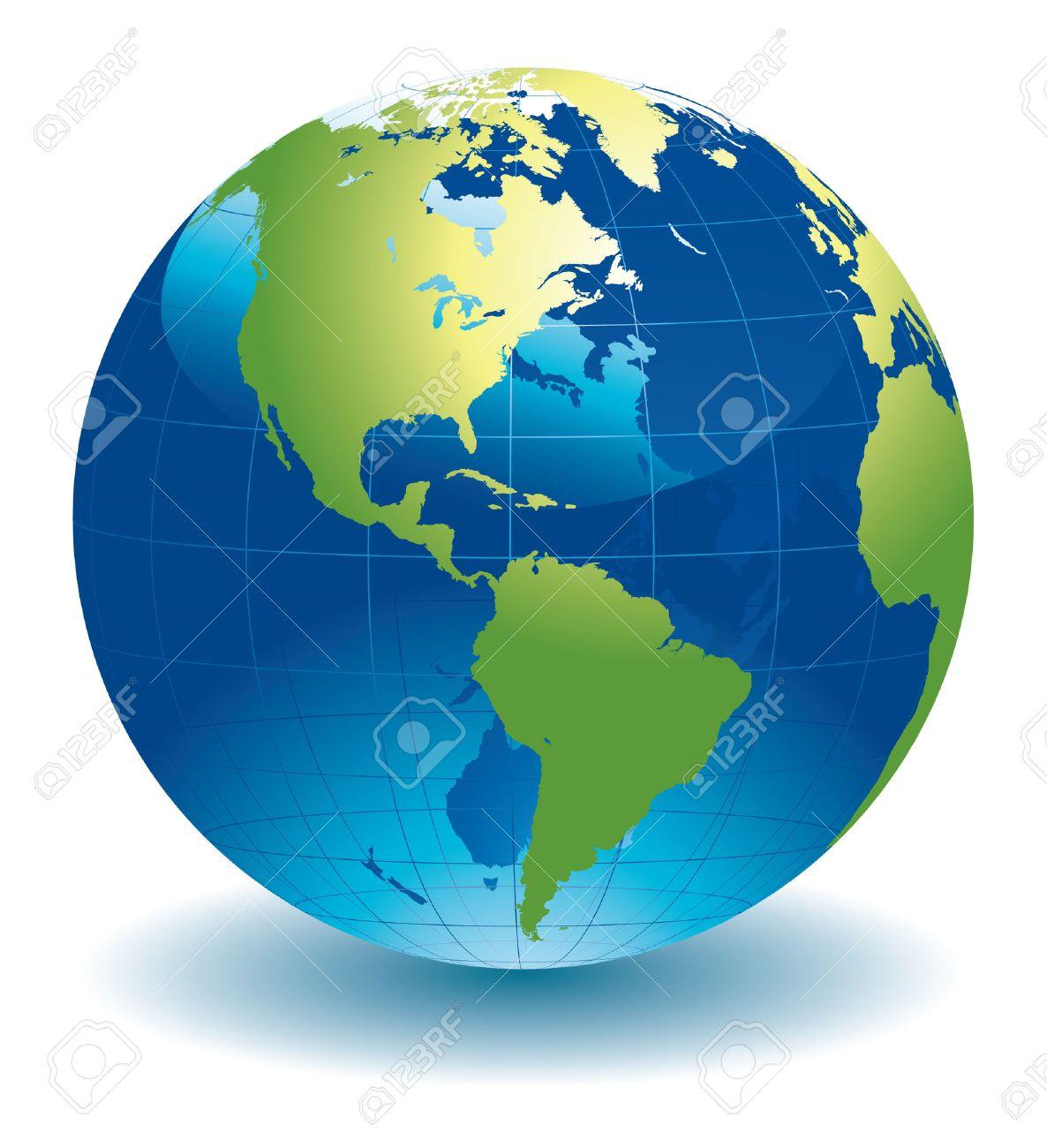 World Globe Map Stock Vector - 7302079