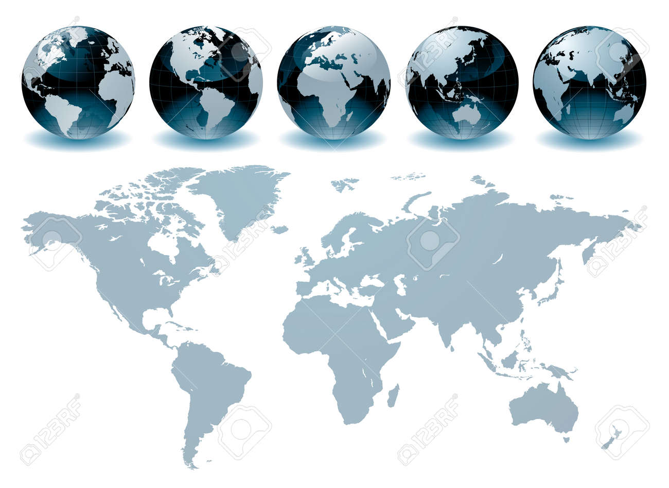 World Globe Maps Royalty Free Cliparts Vectors And Stock - World globe map