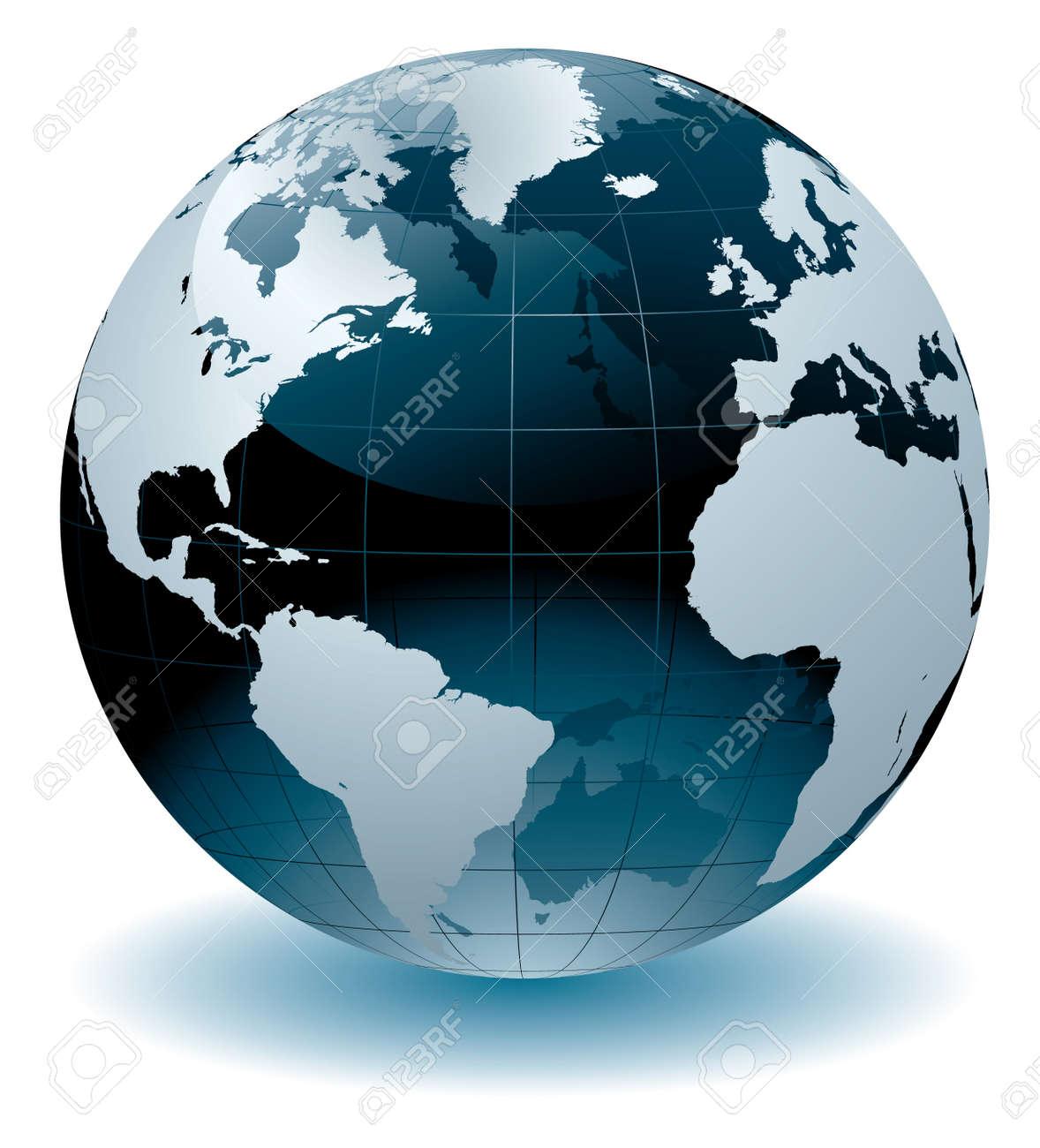 World globe Stock Vector - 7577155