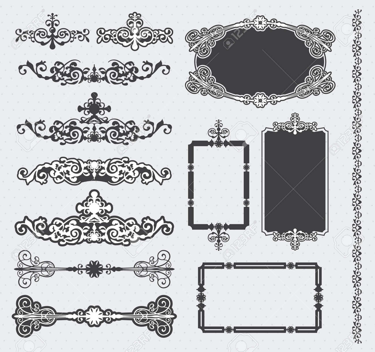 Vintage Frame Set Stock Vector - 17659105