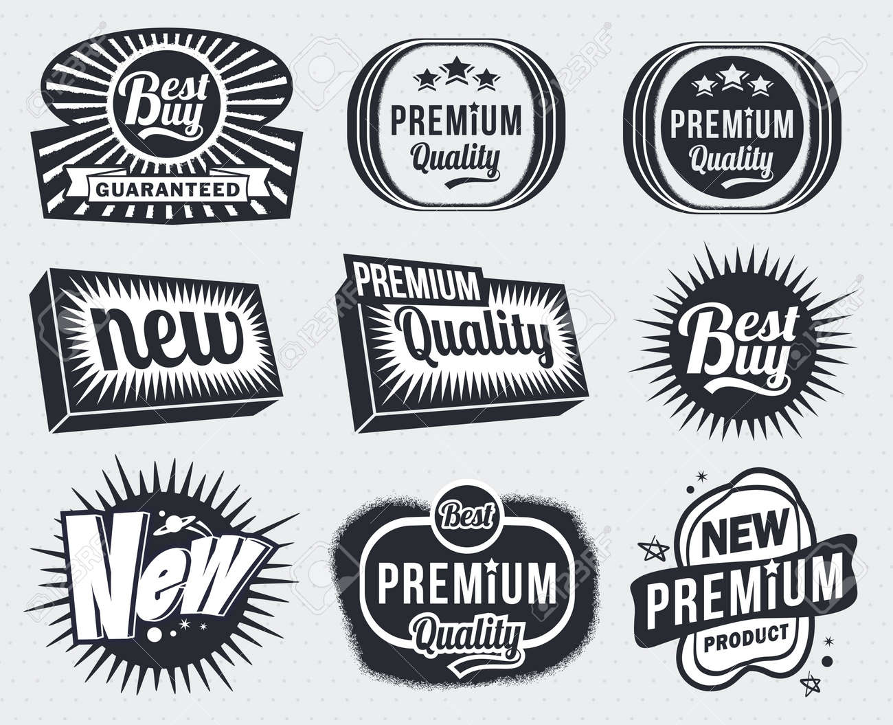 Illustration - Vintage Badge Labels Royalty Free Cliparts, Vectors ...