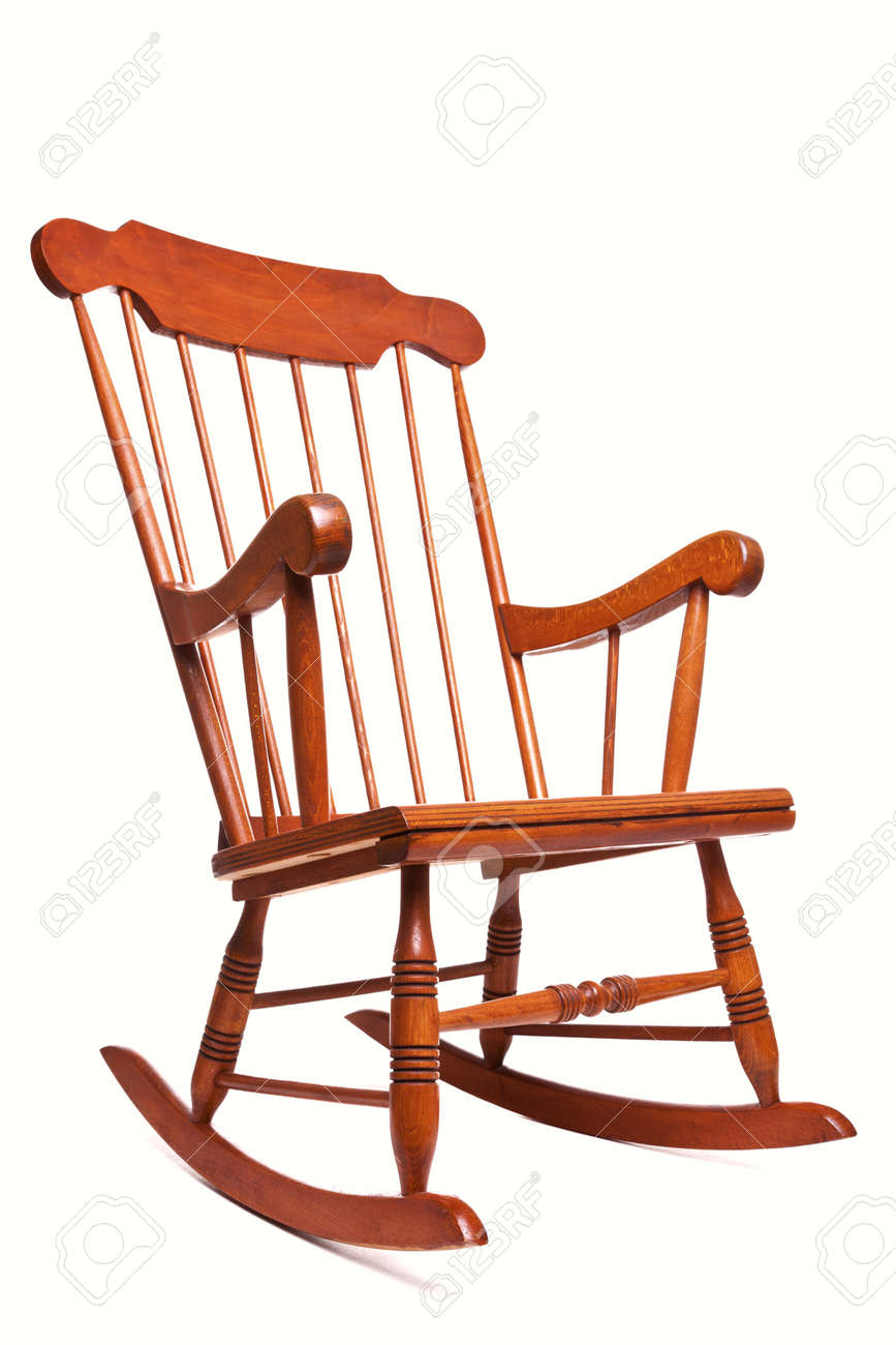 Photo of a Rocking chair isolated on a white background Stock Photo - 7971527