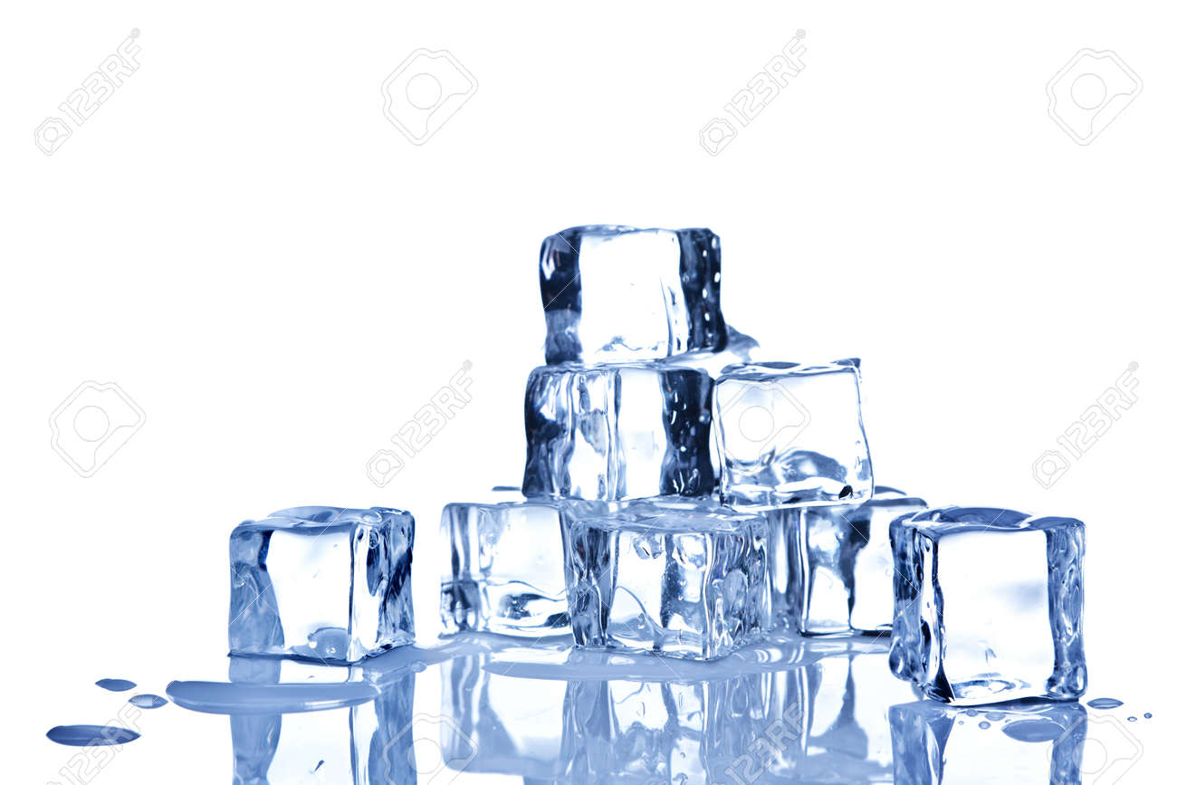 Photo of ice cubes isolated on a white background. Stock Photo - 8855463