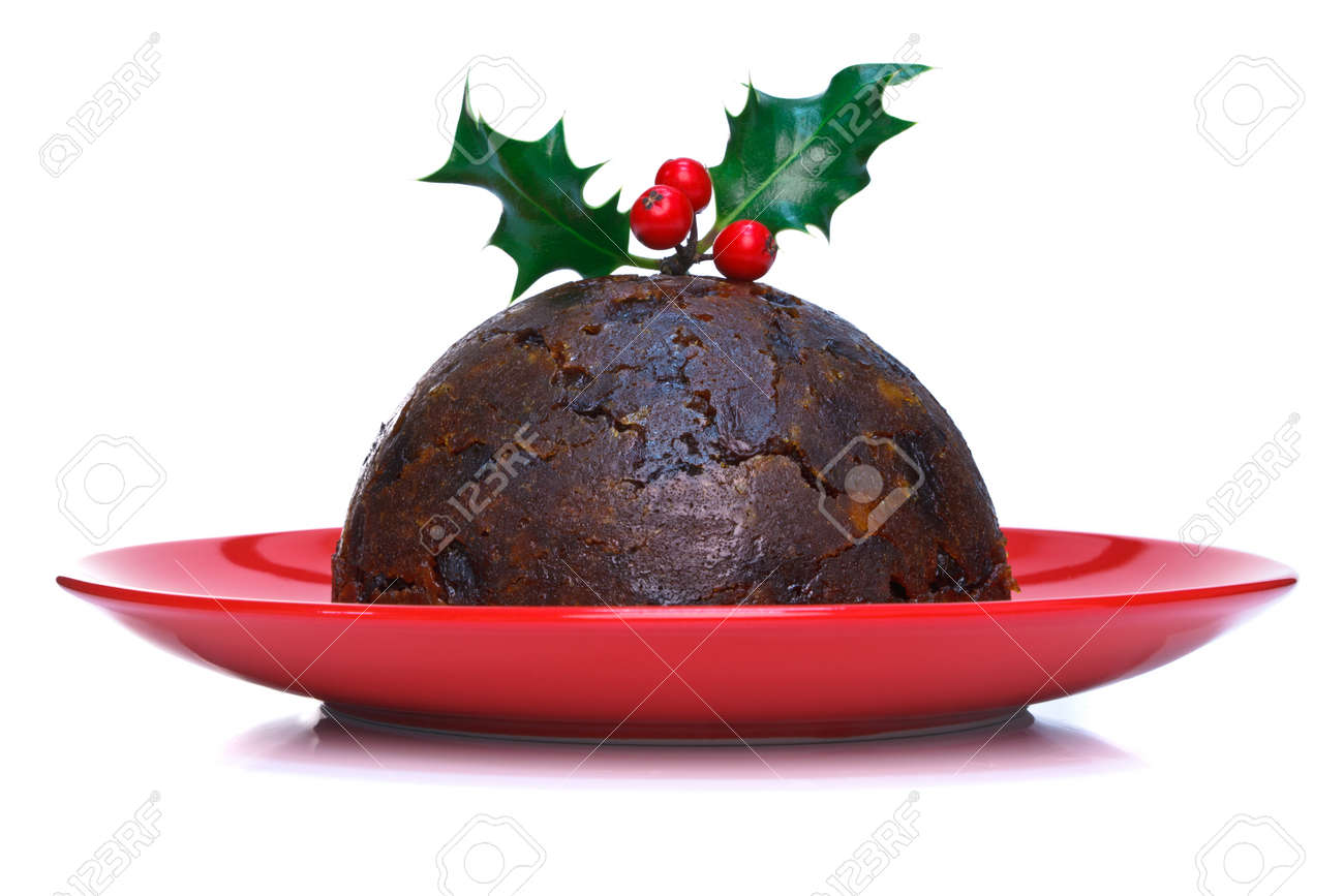 Image result for pudding with holly