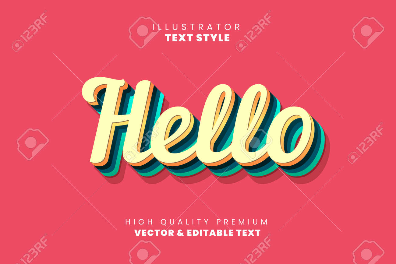 Editable text style effect. Typography illustration template. Graphic design element. - 153626762