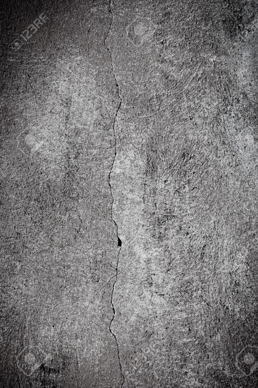 ひびの入った石膏コンクリートの壁の壁紙の背景 黒と白 の写真素材 画像素材 Image